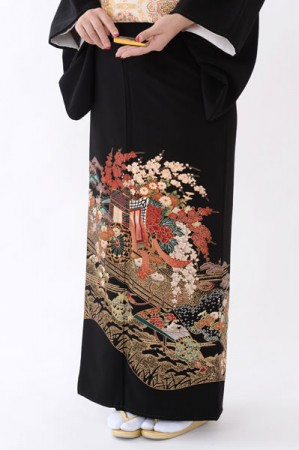 福岡黒留袖KT-4040