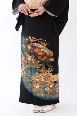 福岡黒留袖KT-4042