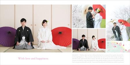 アルバム-デザインサンプル 和装前撮り No.1 熊本 25cmスクエア