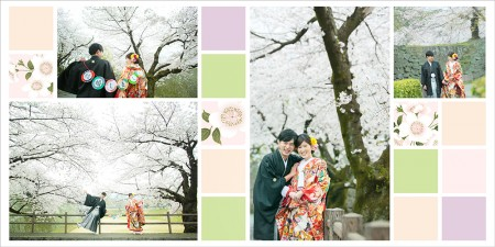 アルバム-デザインサンプル 和装前撮り No.4 熊本 25cmスクエア