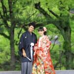 鹿児島,和装,洋装,前撮り,結婚式当日,,鹿児島石橋記念公園02