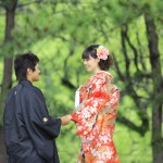 鹿児島,和装,洋装,前撮り,結婚式当日,,鹿児島石橋記念公園04