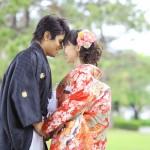 鹿児島,和装,洋装,前撮り,結婚式当日,,鹿児島石橋記念公園06