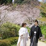 山口,和装,洋装,前撮り,結婚式当日,,長府庭園02
