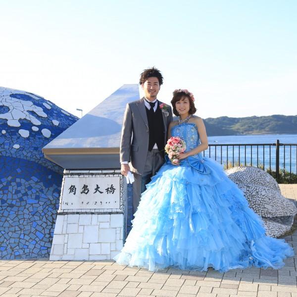 山口,和装,洋装,前撮り,結婚式当日,,角島の魅力