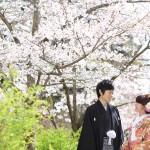 山口,和装,洋装,前撮り,結婚式当日,,長府庭園01
