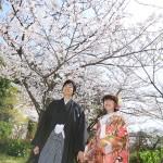 山口,和装,洋装,前撮り,結婚式当日,,長府庭園04