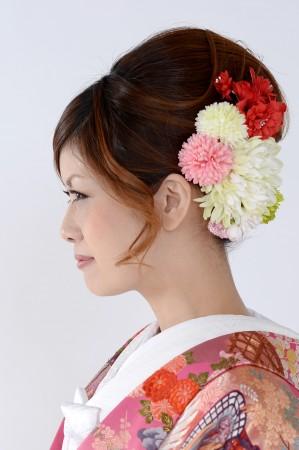 花嫁和装髪型