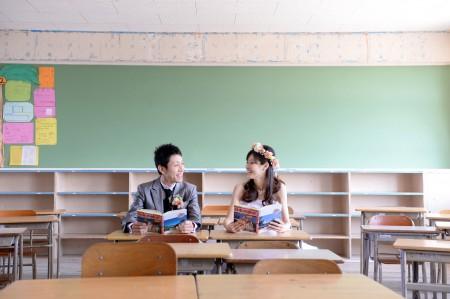 熊本 母校前撮りプラン-母校教室