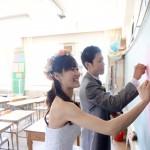 北九州,福岡,長崎,山口,佐賀,大分,和装,洋装,前撮り,結婚式当日,,母校小学校黒板