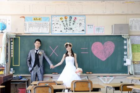 熊本 母校前撮りプラン-母校黒板