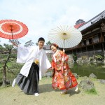 北九州,和装,洋装,前撮り,結婚式当日,,小倉城・小倉城庭園
