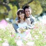 福岡,和装,洋装,前撮り,結婚式当日,,能古島002 コスモス