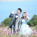 福岡,和装,洋装,前撮り,結婚式当日,,能古島003コスモス