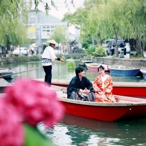 柳川 川下り 和装 前撮り 写真