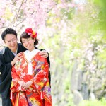 福岡,和装,洋装,前撮り,結婚式当日,,桜前撮りプラン-08