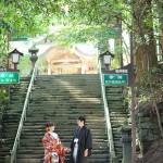 宮崎,和装,洋装,前撮り,結婚式当日,,高千穂神社