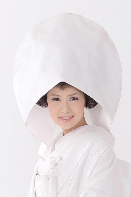 白無垢かつら綿帽子