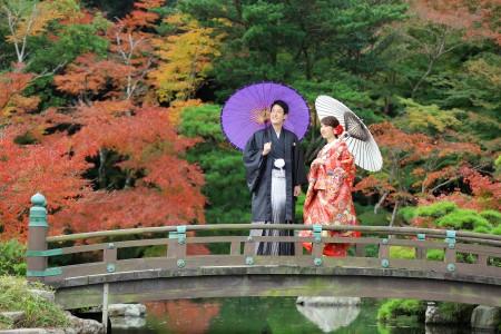 山口 長府庭園 紅葉 前撮り