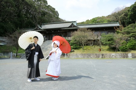 福岡 神社前撮りプラン-高見神社・北九州市