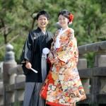 鹿児島,和装,洋装,前撮り,結婚式当日,,鹿児島石橋記念公園10
