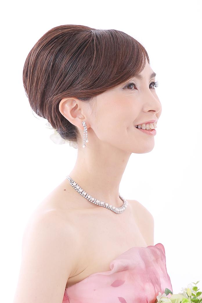 ウェディングドレス髪型