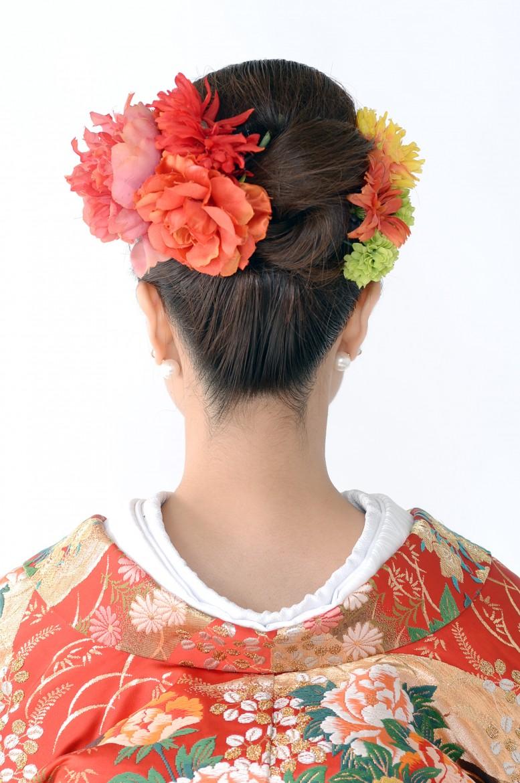 花嫁和装髪型2
