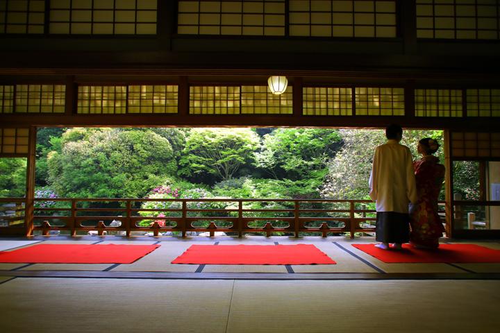 福岡 友泉亭 日本庭園 和装