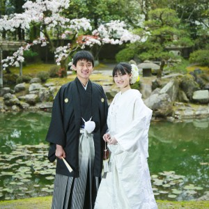 鹿児島 玉里邸 和装前撮り 和装 前撮り ロケーション 日本庭園