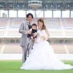 福岡,和装,洋装,前撮り,結婚式当日,,鳥栖スタジアム002