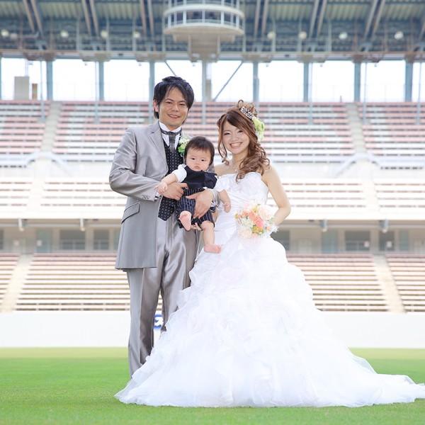 福岡,和装,洋装,前撮り,結婚式当日,,ベストアメニティスタジアム (鳥栖スタジアム)