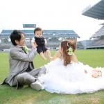 福岡,和装,洋装,前撮り,結婚式当日,,鳥栖スタジアム001