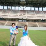 福岡,和装,洋装,前撮り,結婚式当日,,鳥栖スタジアム003