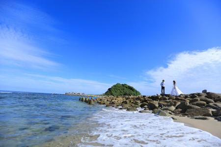 福岡 海ロケーション前撮りプラン-福岡・志賀島