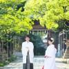 福岡 前撮り 和装 日本庭園 婚礼写真 小倉城 北九州