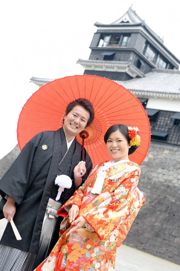 熊本城 前撮り