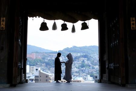 長崎 諏訪神社前撮りプラン-前撮り スタジオフィール 長崎 諏訪神社