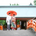 長崎,和装,洋装,前撮り,結婚式当日,,前撮り スタジオフィール 長崎 佐世保宮地嶽神社