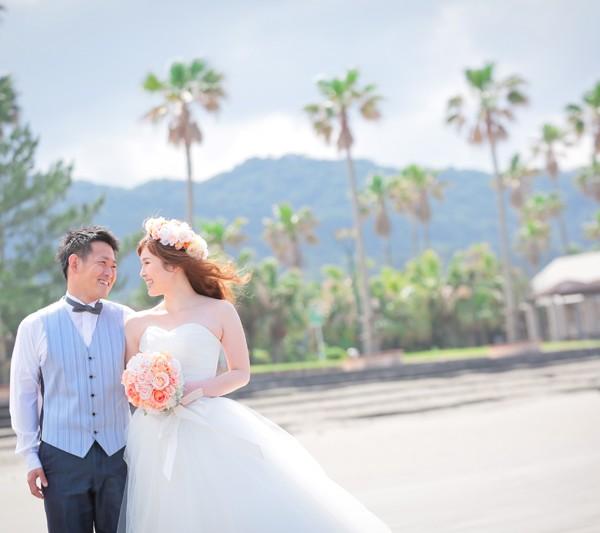 宮崎,和装,洋装,前撮り,結婚式当日,,青島ビーチ