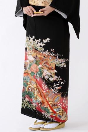 鹿児島店黒留袖KAKT-214