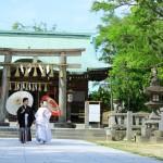佐賀,和装,洋装,前撮り,結婚式当日,,佐賀 唐津 唐津神社 唐津城