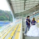 福岡,和装,洋装,前撮り,結婚式当日,,レベルファイブスタジアム