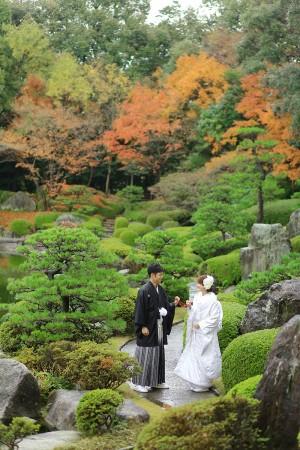 福岡 日本庭園前撮りプラン-前撮り・大濠公園・日本庭園