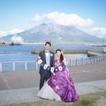 鹿児島,和装,洋装,前撮り,結婚式当日,,桜 鹿児島 スタジオフィール 前撮り