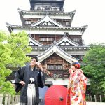 広島,和装,洋装,前撮り,結婚式当日,,広島城 和装 前撮り スタジオフィール