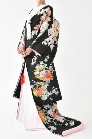 福岡色打掛けF-040ブラック