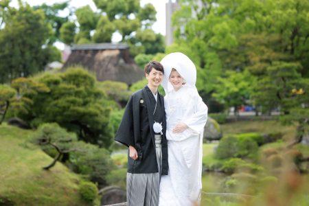 熊本 水前寺公園 日本庭園 和装 前撮り スタジオフィール
