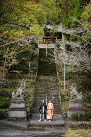 紅葉 熊本城 和装 前撮り スタジオフィール