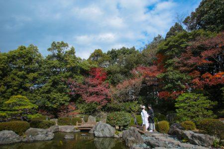 紅葉 福岡 日本庭園 スタジオフィール