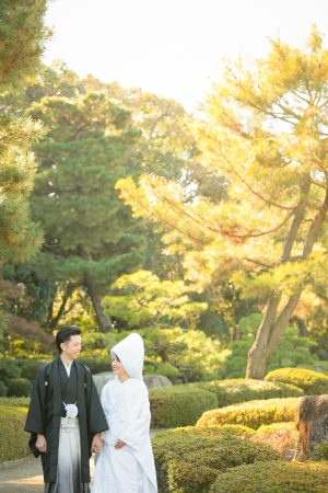 紅葉 福岡 日本庭園 スタジオフィール 綿帽子